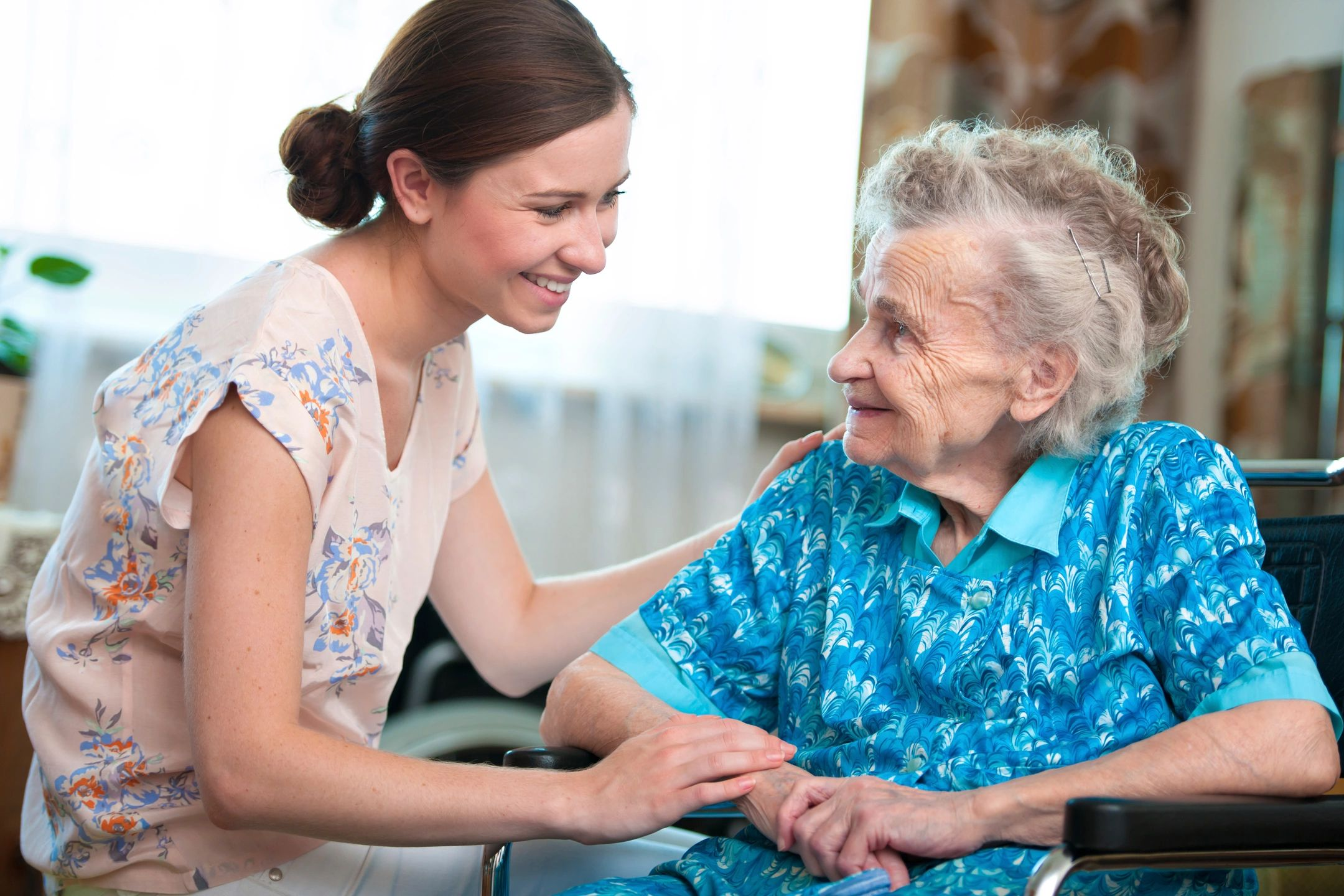 Two people becoming friends during in home care in Arlington, TX